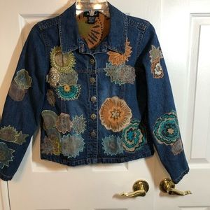 West End denim jacket petite S B1-1545